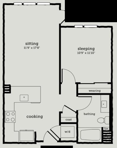 Alexan Webster One Bedroom Floor Plan A1