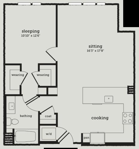 Alexan Webster One Bedroom Floor Plan A10