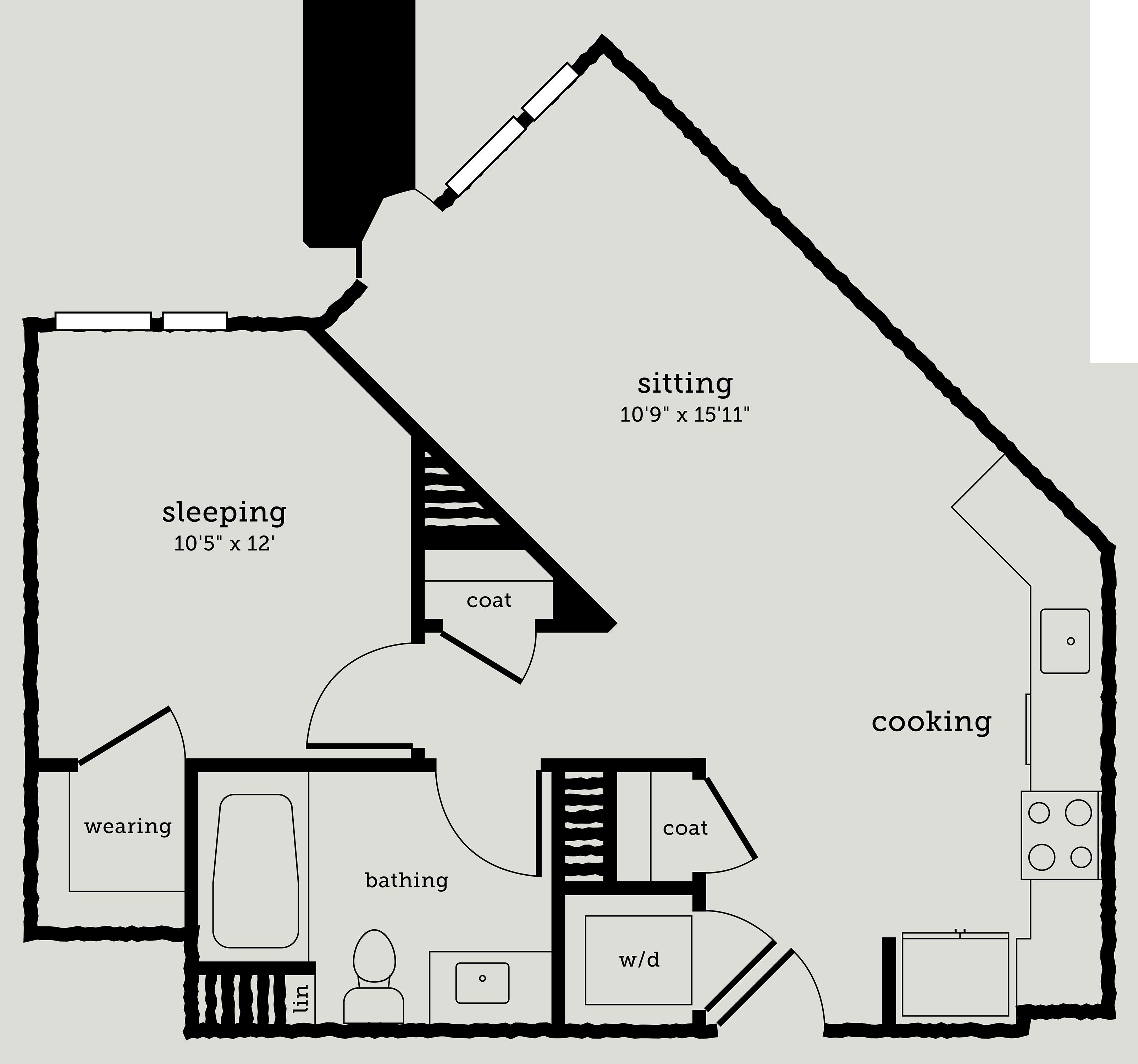 Alexan Webster One Bedroom Floor Plan A3