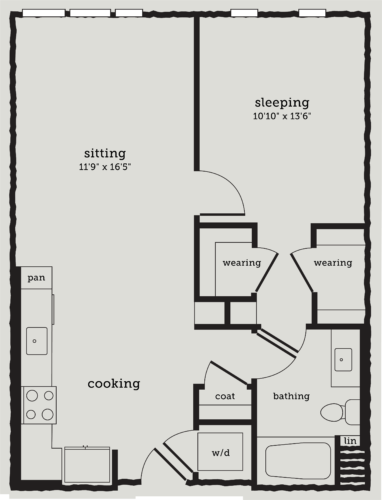 Alexan Webster One Bedroom Floor Plan A7