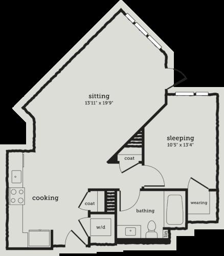 Alexan Webster One Bedroom Floor Plan A9