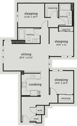 Alexan Webster Three Bedroom Floor Plan C1