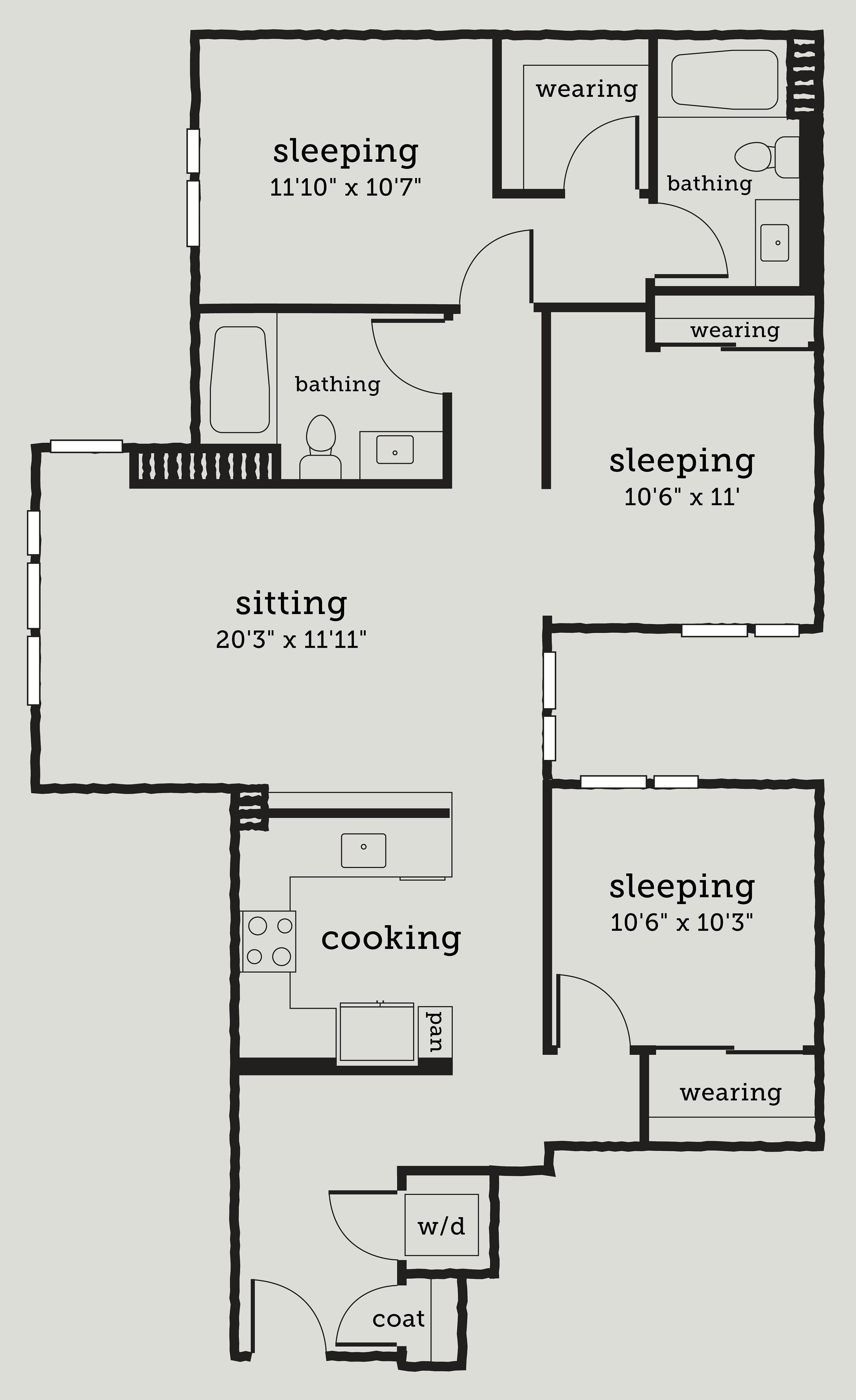 Alexan Webster Three Bedroom Floor Plan C1