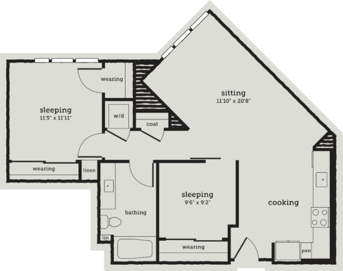 Alexan Webster Two Bedroom Floor Plan B2