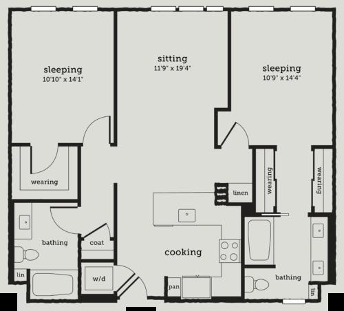 Alexan Webster Two Bedroom Floor Plan B5