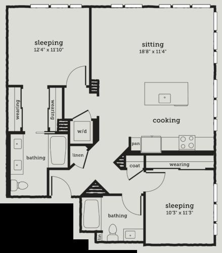 Alexan Webster Two Bedroom Floor Plan B7