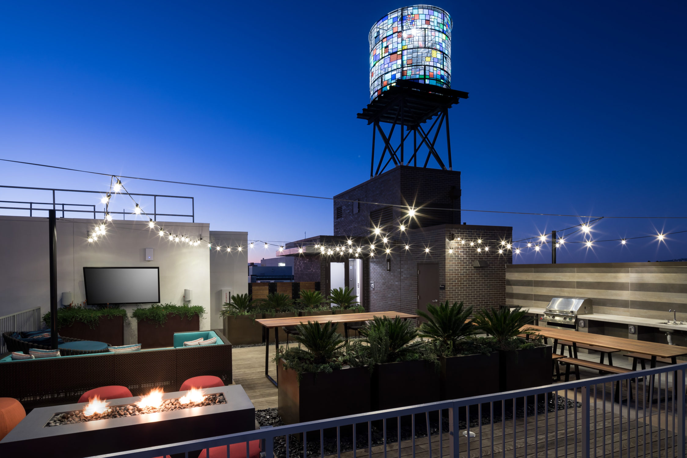 AME Rooftop at Night Water Tower TCRA 4193 362