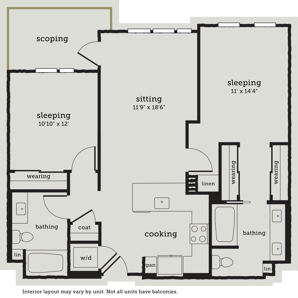 two-bedroom Oakland apartment