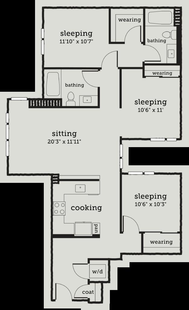 three-bedroom Oakland apartments